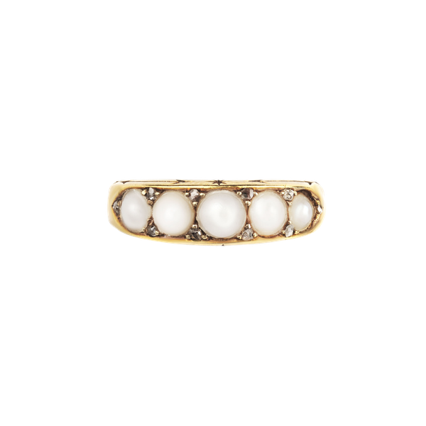 Victorian pearl and diamond ring. Spectrum - image 1