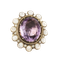 Extra large amethyst and pearl cocktail ring. Spectrum - image 1