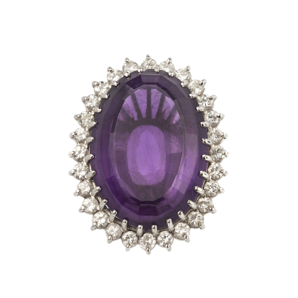 Amethyst and diamond large cocktail ring. Spectrum - image 1