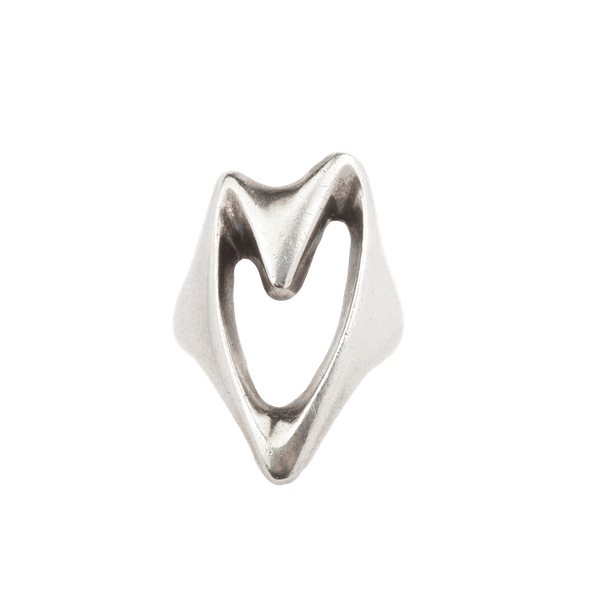 Georg Jensen silver abstract heart ring. Spectrum Antiques - image 1