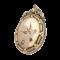 Large oval bird design stoned 9ct gold Victorian locket - image 1