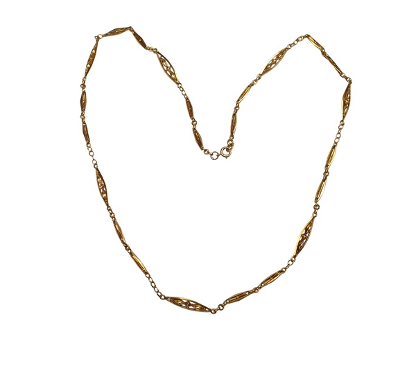 Antique French gold necklace  DBGEMS - image 1