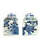 Pair Chinese blue and white tea jars - image 1
