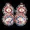 Pair Japanese Imari double gourd vases - image 1