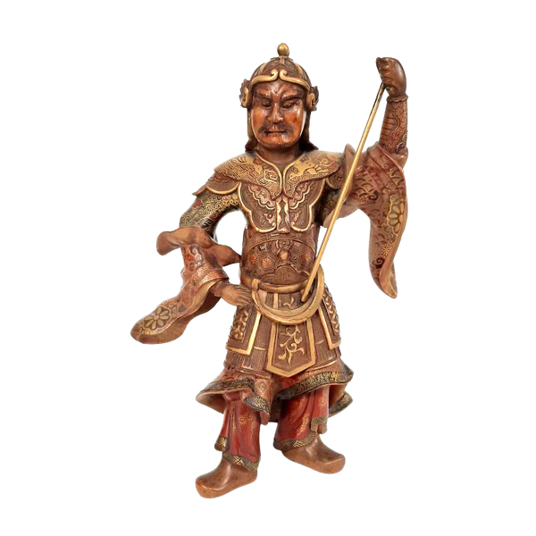 Japanese wood and lacquer figure - image 1
