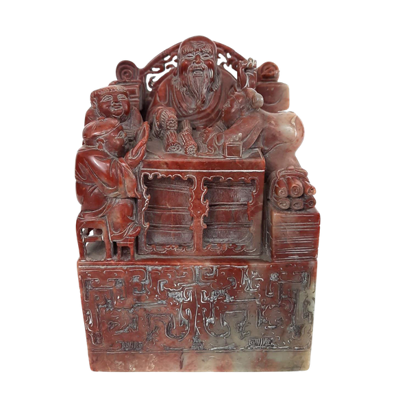Large Chinese soapstone seal - image 7