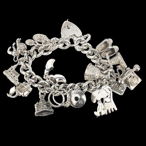Charm bracelet in solid silver. Spectrum - image 1