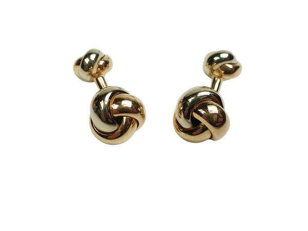 Cartier three colour 18ct gold knot cufflinks  DBGEMS - image 1