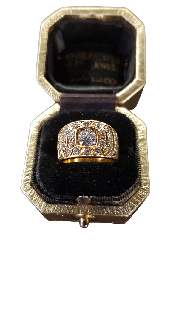 A Beautiful Flat Diamond Ring Offered by The Gilded Lily - image 1