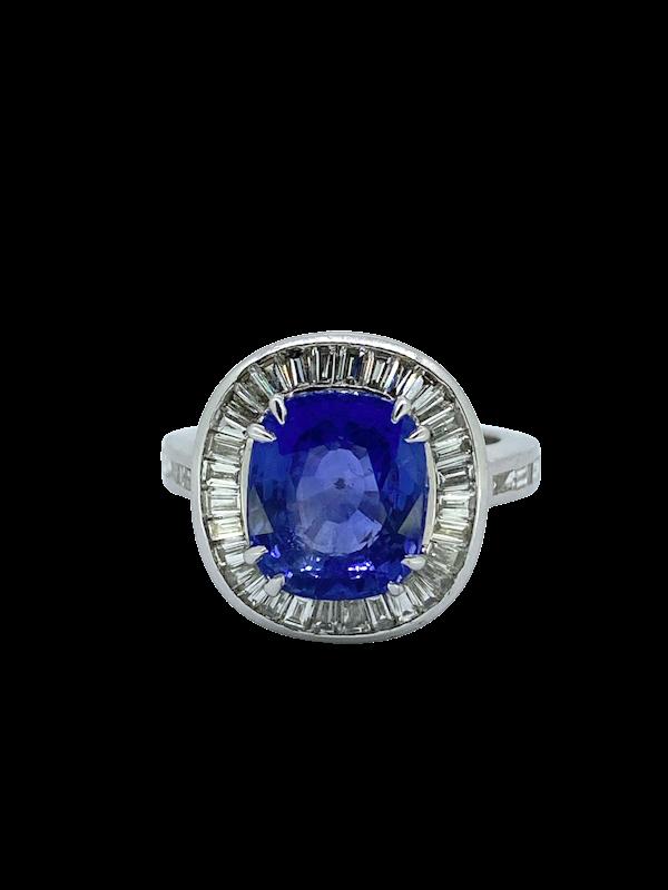 Ceylon Sapphire and Diamond Ring - image 1