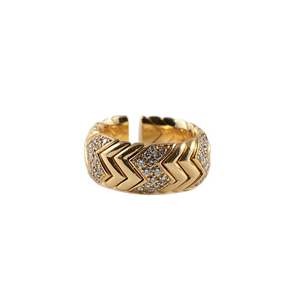 "1990's, 18ct Yellow Gold & Diamond stone set ""SPIGA"" Ring by BULGARI,,,,,,,,,, SHAPIRO & Co since1979 - image 10"