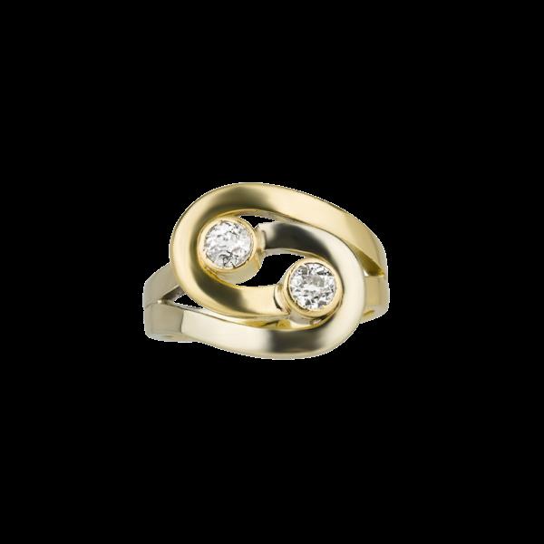 Infinity Design Diamond Ring - image 1