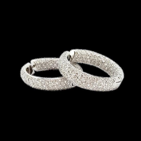 Diamond Hoop earrings - image 1