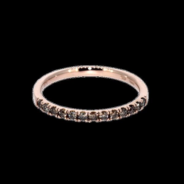 Cognac Diamond Half Eternity Ring. S.Greenstein - image 1