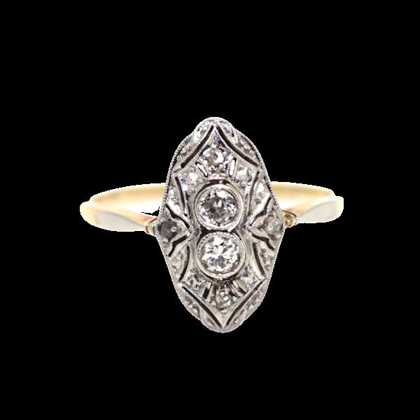 Art Deco 1930's Diamond Up-Finger Ring. S.Greenstein - image 1