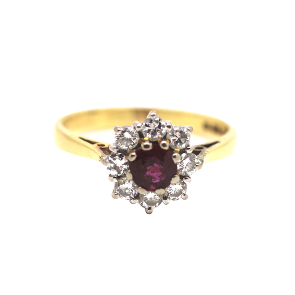 Ruby And Diamond Cluster Ring. S.Greenstein - image 1