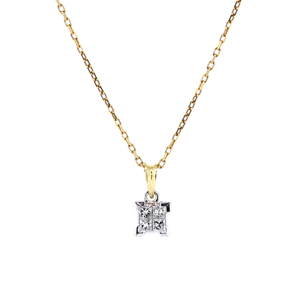 Princess Cut Diamond Pendant. S.Greenstein - image 1
