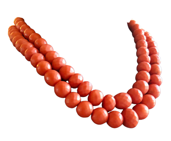 Antique coral necklace - image 1