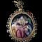Devotional gold pendant with enamel - image 1