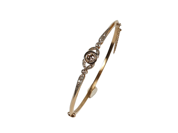 Edwardian diamond bangle  DBGEMS - image 1