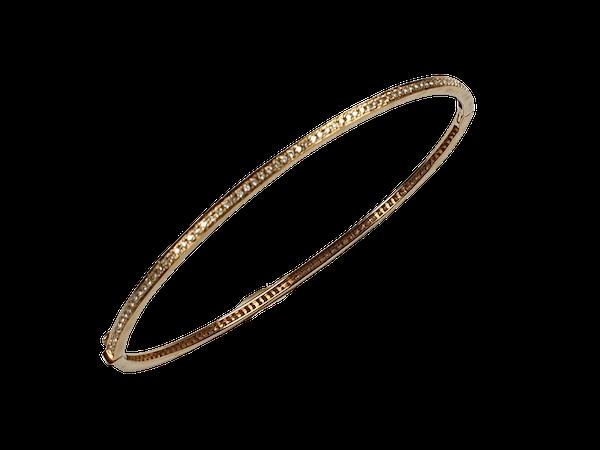 Diamond 18ct Gold Bangle  DBGEMS - image 1