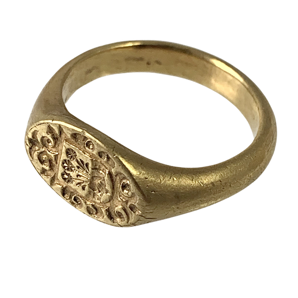 1720 armorial gold ring - image 1