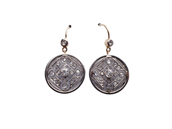 Geometric edwardian diamond drop earring  DBGEMS - image 2