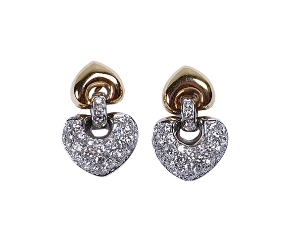 Pave Diamond and Gold Earrings  DBGEMS - image 1