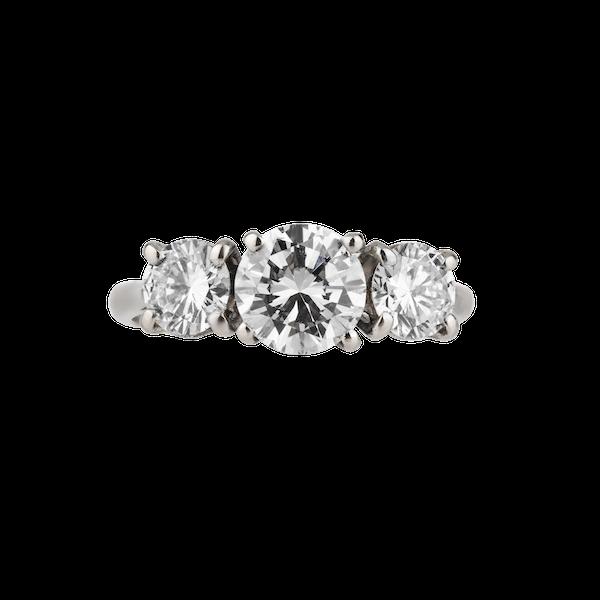3 stone diamond ring - image 1