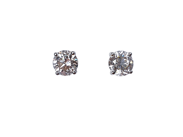1.73ct diamond stud earrings - image 1