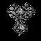 Ca 1760 silver mounted diamond brooch - image 1
