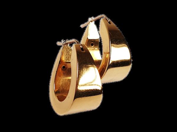 Pair of 18ct Gold Hoop Earrings  DBGEMS - image 1