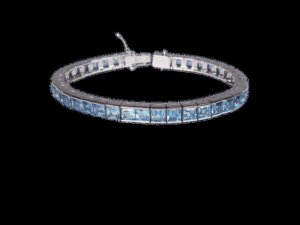 Aquamarine Line Bracelet  DBGEMS - image 1