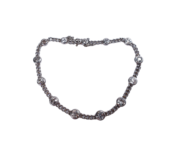 French art deco diamond bracelet  DBGEMS - image 1