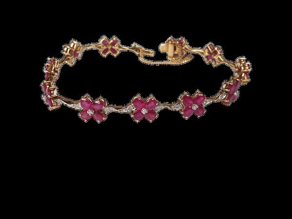 Ruby and diamond bracelet  DBGEMS - image 1
