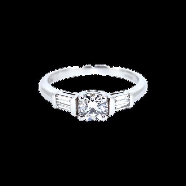 0.90 Carat Diamond Solitaire Ring. S.Greenstein - image 1