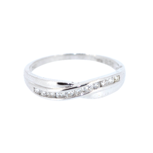 Diamond Twist Half Eternity Ring. S.Greenstein - image 1