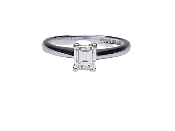 Emerald Cut Solitaire Engagement Ring  DBGEMS - image 1