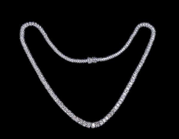 Modern diamond riviere necklace  DBGEMS - image 1