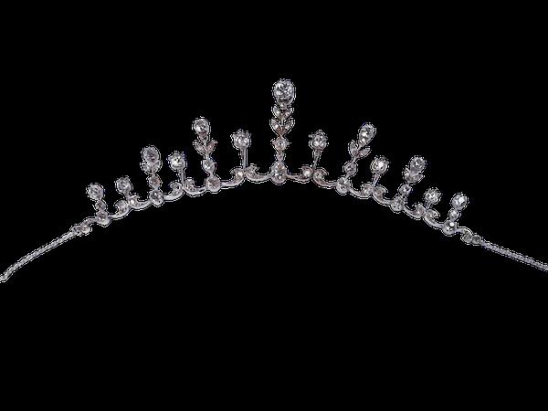 Antique diamond fringe tiara  DBGEMS - image 1