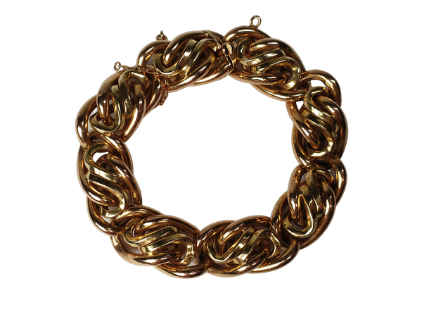 Chic 1960's 18ct gold bracelet  DBGEMS - image 1