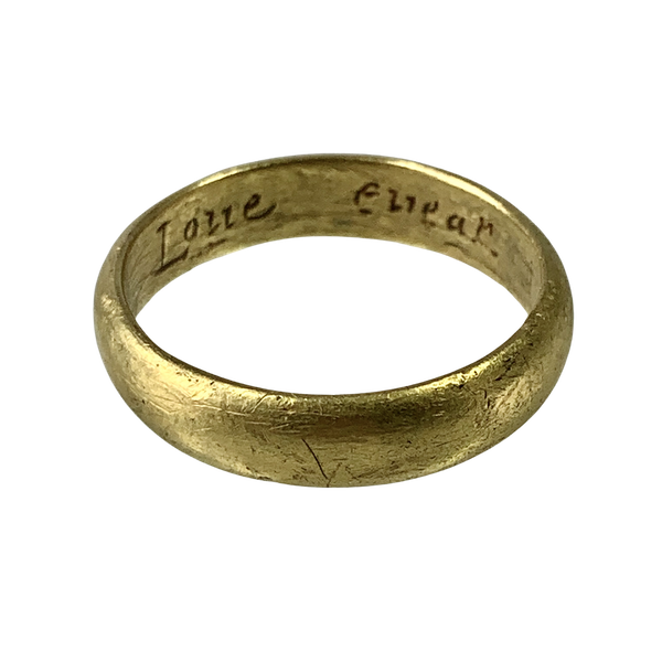 Seventeenth century gold POSY ring - image 1