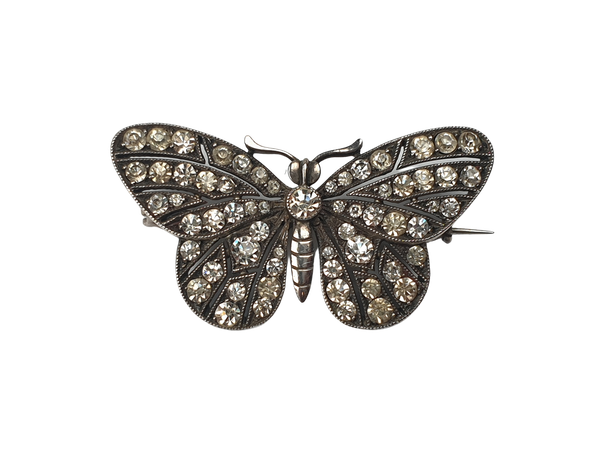 Antique Paste Butterfly Brooch  DBGEMS - image 1