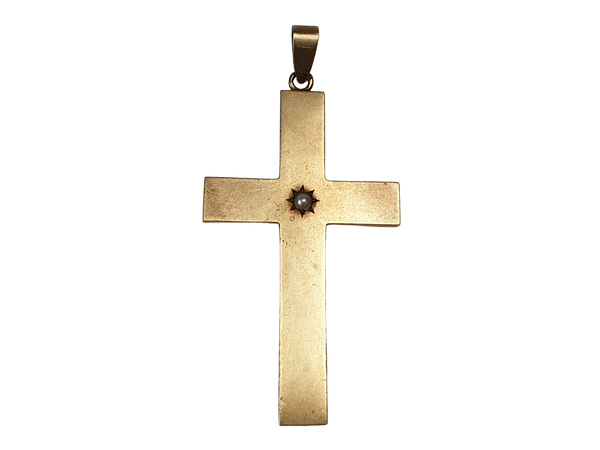 Victorian 14ct gold cross  DBGEMS - image 1