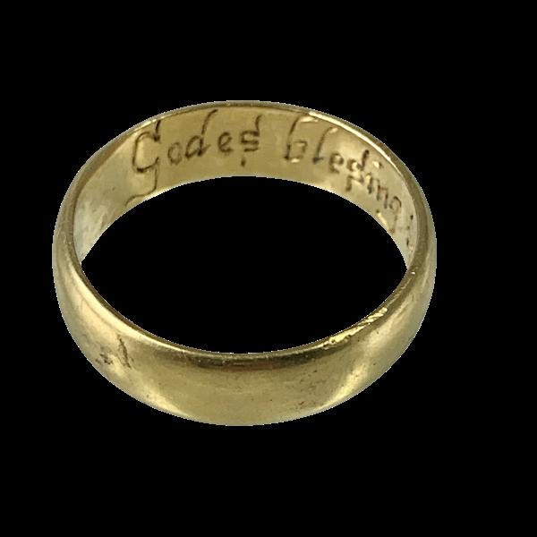 Seventeenth century POSY ring - image 1