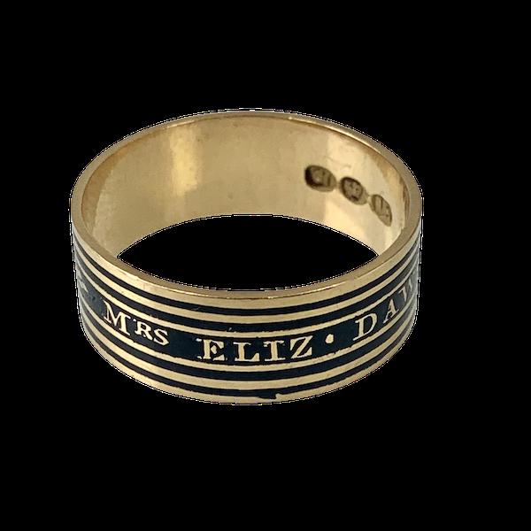Memento Mori gold ring with black enamel - image 1