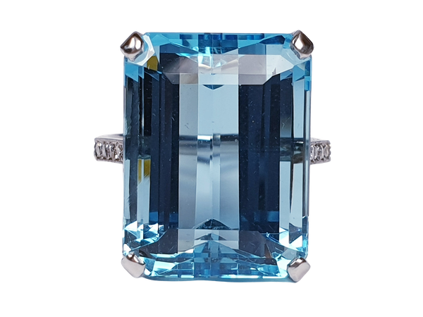 Aquamarine Dress Ring  DBGEMS - image 1