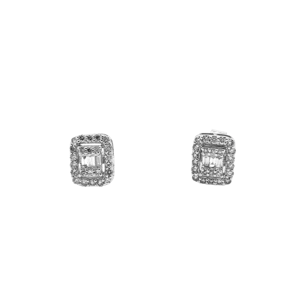 Multi diamond stud earrings 0.50ct - image 3