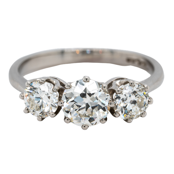 A Three Stone Diamond Ring Offered by The Gilded Lily - image 1