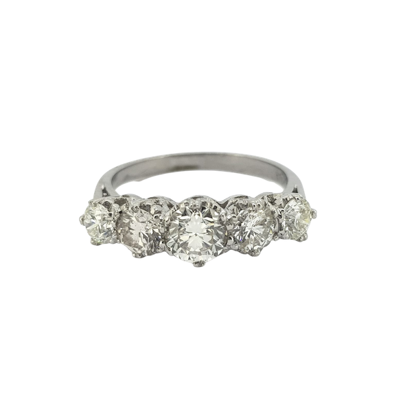 Diamond 5 stone ring, 2cts - image 1